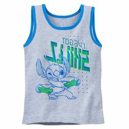 Disney Store Stitch Tank Top T Shirt Tee for Boys Size 4 5/6