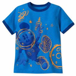 Disney Store Mickey Mouse Ringer T-Shirt Tee Top for Boys 2/