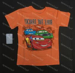 """DISNEY Store TEE for Boys CARS 3 """"RULE THE TRACK"""" T Shirt Ch"""