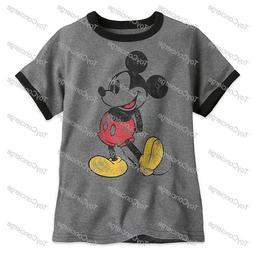 DISNEY Store TEE for Boys MICKEY MOUSE Classic RINGER T Shir