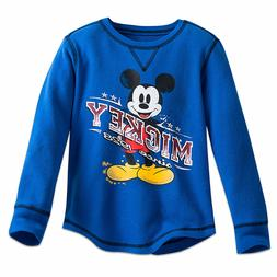 DISNEY Store THERMAL TEE for Boys MICKEY MOUSE Long SLEEVE C