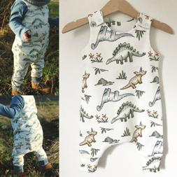 US Cute Romper Trousers Toddler Baby For Boys Summer Clothes