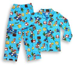 Super Mario Pajamas for Boys 2-Piece Coat Style Character PJ