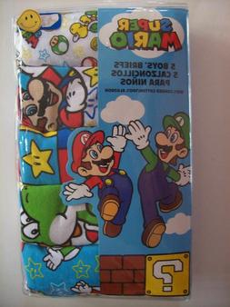 Super Mario Underwear Briefs Boys- Size 6 - 2 Packs of 5 - 1