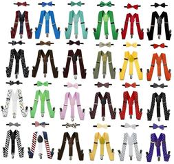 Suspender and Bow Tie Set for Toddler Baby Boys Kids 0-5 Yea