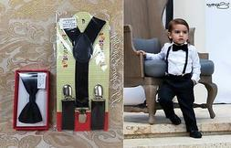 Suspenders and Bowtie Set for Kids Toddler Boys Girls Childr