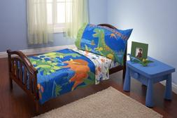 Everything Kids 4 Piece Toddler Bedding Set, Dinosaurs