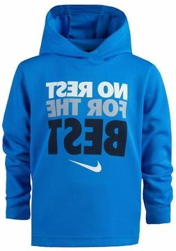 NIKE Toddler Boy Dri-FIT NO REST FOR THE BEST L/S Waffle Hoo