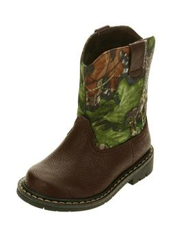 Mossy Oak Toddler Boys/Girls Camo Cowboy Casual Boots Shoes: