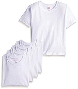 Hanes Toddler Boys' 5-Pack Crew, White, 2/3