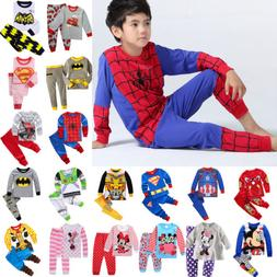 2PCS Kids Cartoon Spiderman Pajamas For Boys Outfit Xmas Sle