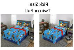 Toddler Twin Full Size Bed Sheets Boys Paw Patrol Rescue Pil