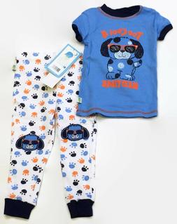 Duck Duck Goose Too Cool Puppy Blue Cotton Pajamas for Baby