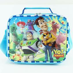 Toy Story Kids Lunch Box Bag for Boys Blue Shoulder Strap Di