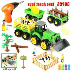 Toys for Kids Boys Toddlers Take Apart Toys Farm Truck Tract