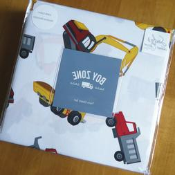 Boy Zone TRACTOR DUMP TRUCK 3pc TWIN SHEET SET Kid Construct