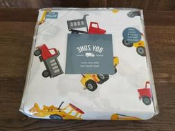 Boy Zone Tractor Dump Truck Cotton Twin Sheet Set Kid Constr