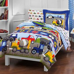 Dream Factory® Trains and Trucks Twin Comforter Set