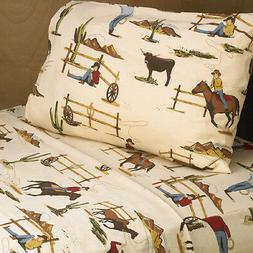 Twin Bed Sheet Set for Sweet Jojo Designs Wild West Cow Boy