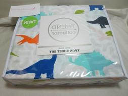 Trend Collector Twin Sheet Set DINO DINOSAURS ZONE ~ Multi C