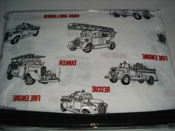 BOY ZONE TWIN SHEET Set Vintage Fire Truck Engines