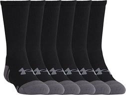 Under Armour Boys' UA Resistor III Crew Socks 6-Pack Youth L
