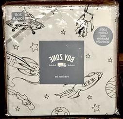 boy zone UFO SPACE SHIP PLANETS cotton sheet set - FULL SIZE