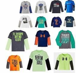 Under Armour - Infant and Youth Boys Long Sleeve Shirts 2T-7