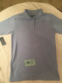 Nautica  Uniform Shirt  for boys Baby Blue  L 14/16 MSRP $24