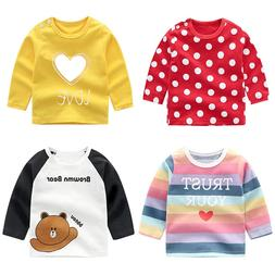 Unisex 6M-5T Baby long sleeve t-shirt cotton <font><b>boys</