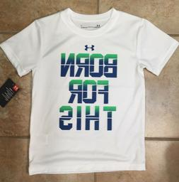 Under Armour UR3 Heatgear Boys White Born For This Short Sle