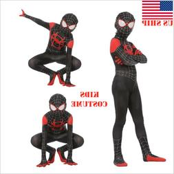US! Spider-Man: Into the Spider-Verse Miles Morales Kids Cos