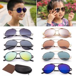 Vintage Aviator Sunglasses For Boys Girls Kids Child Toddler