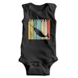 Vintage Style Narwhal Silhouette Unisex Baby 100% Cotton Sle