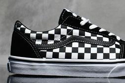 VANS WARD  CHECKERBOARD shoes for boys, NEW & AUTHENTIC,  si