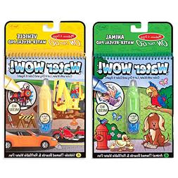 Melissa and Doug Water Wow 2 Pack Bundle: Vehicles and Anima