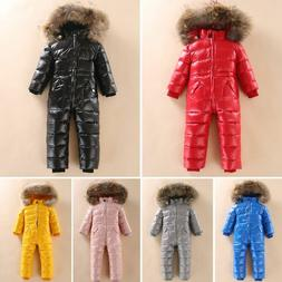 Winter Snowsuit Baby Boys Jacket Outdoor Jumpsuit Clothes Fo