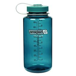Nalgene Tritan Wide Mouth BPA-Free Water Bottle, Cadet W/ Ca