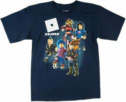 Roblox Youth Boys Multiple Character Navy Tee Shirt New S, X
